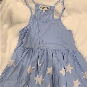 blue and white stars wild fox top!